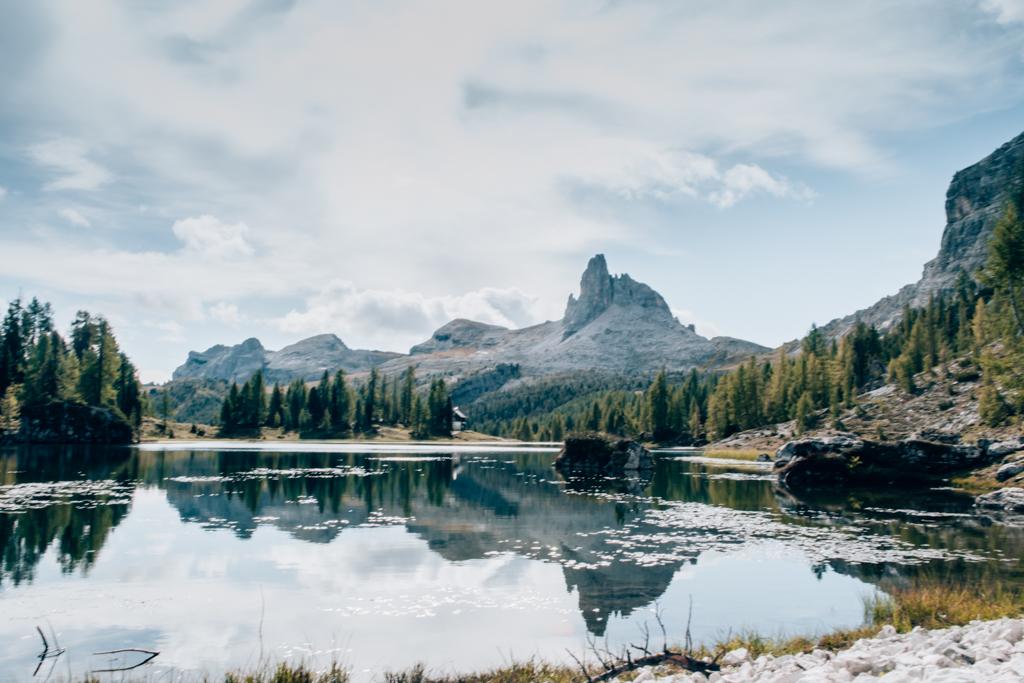 Ausblick am Lago di Federa