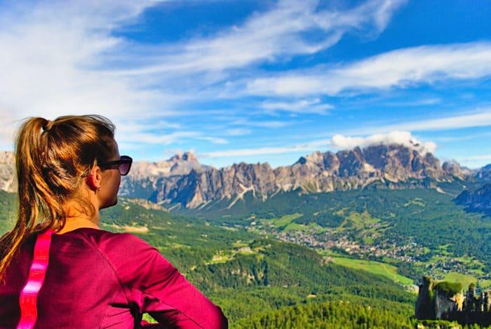 Ausblick nach Cortina