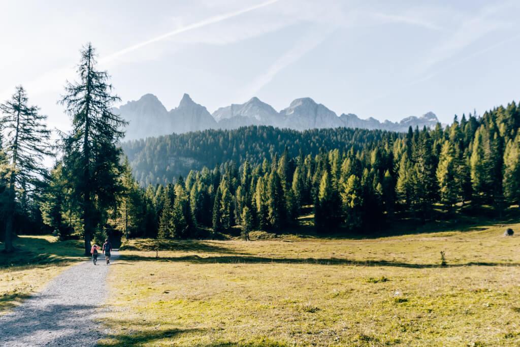 Weg zum Lago di Sorapis