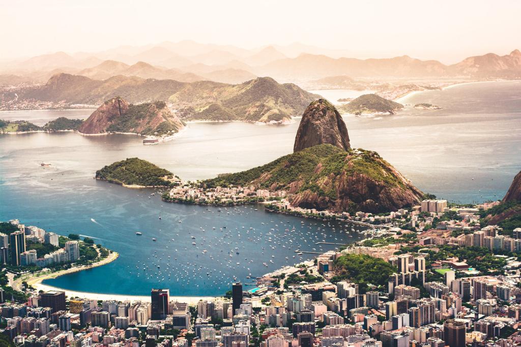 Blick über Rio de Janeiro