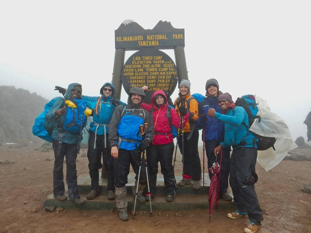 Gruppenbild am Lava Tower Camp