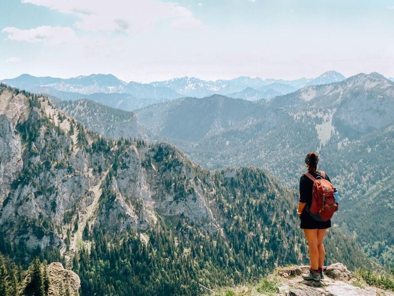 Tegelberg - Ausblick in die Allgäuer Alpen