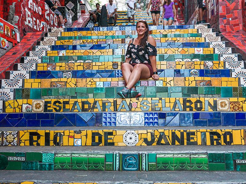 Die Selarón-Treppe in Santa Teresa