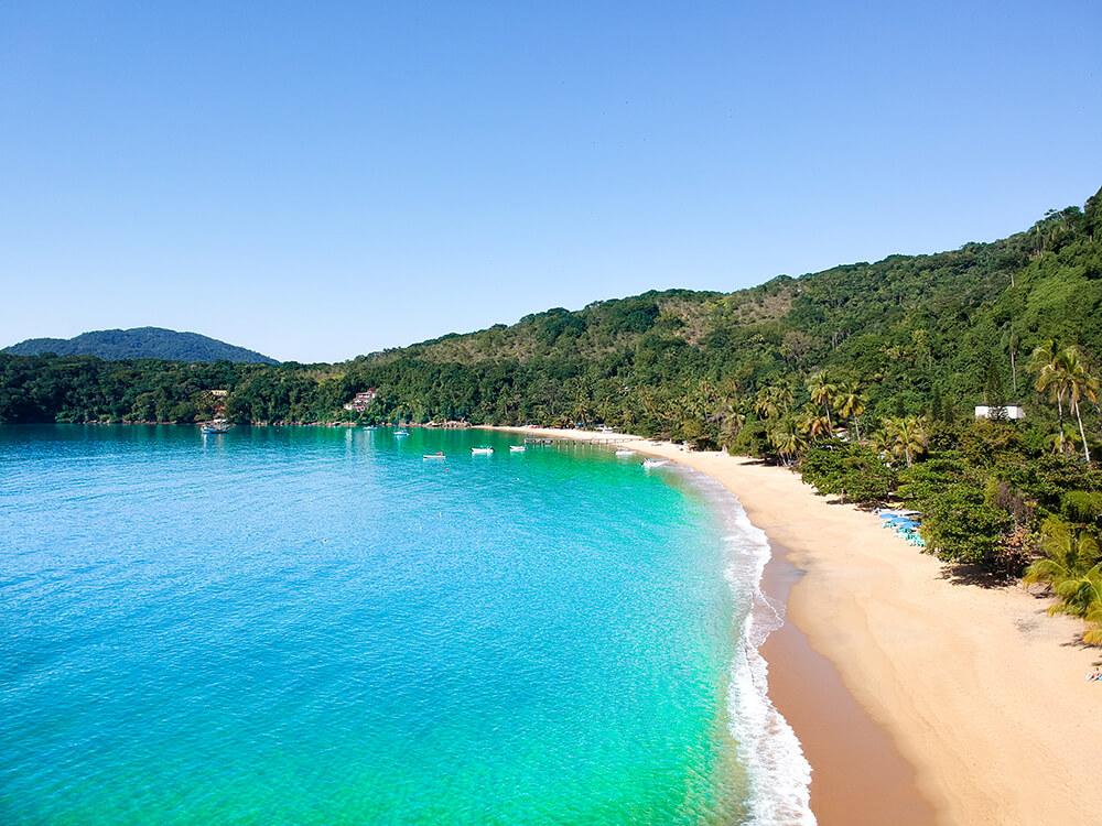 Drohnenbild über Ilha Grande