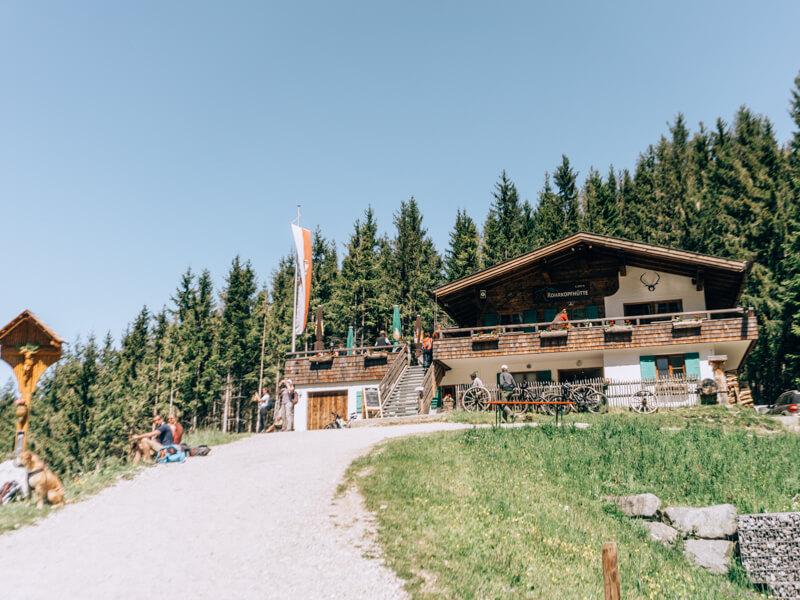 Pause auf der Rohrkopfhütte