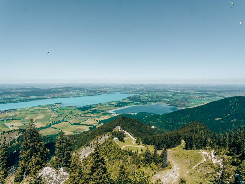 Aussicht vom Tegelberg