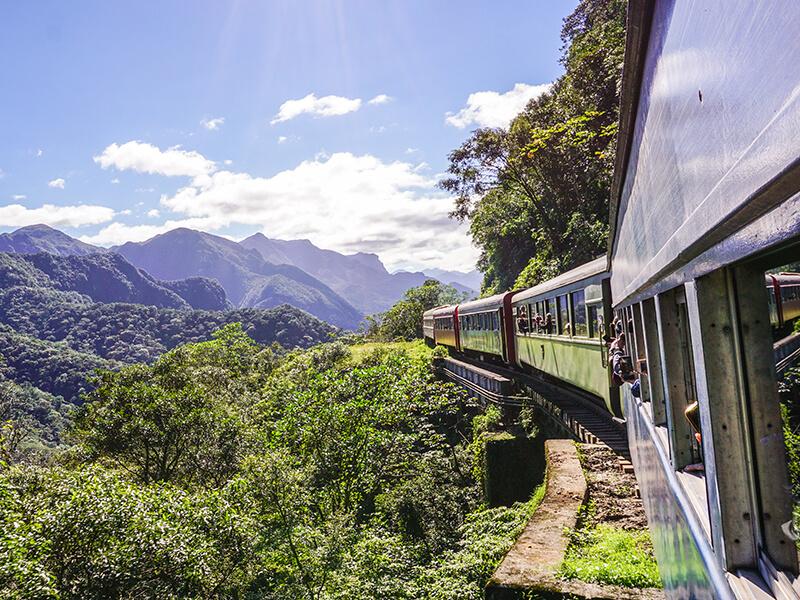 Zugfahrt in Brasilien