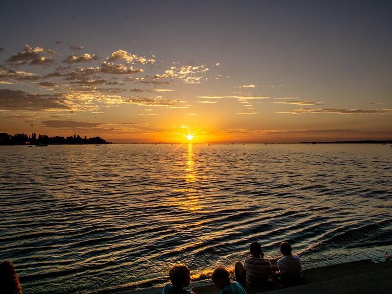 Sonnenuntergang am Molo