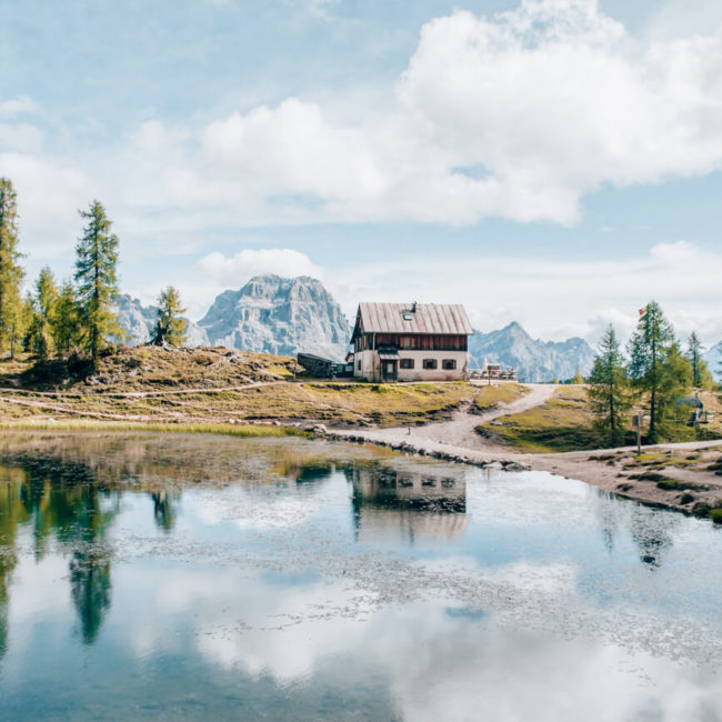Spiegelung am Lago di Federa