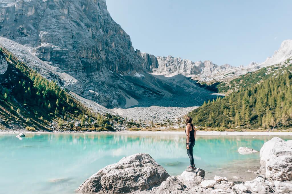 Wanderung zum Lago di Sorapis in den Dolomiten