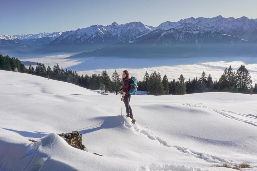 Wintertour in Vorarlberg