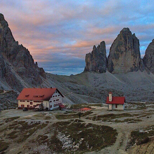 Dolomiten Drei Zinnen Sonnenuntergang