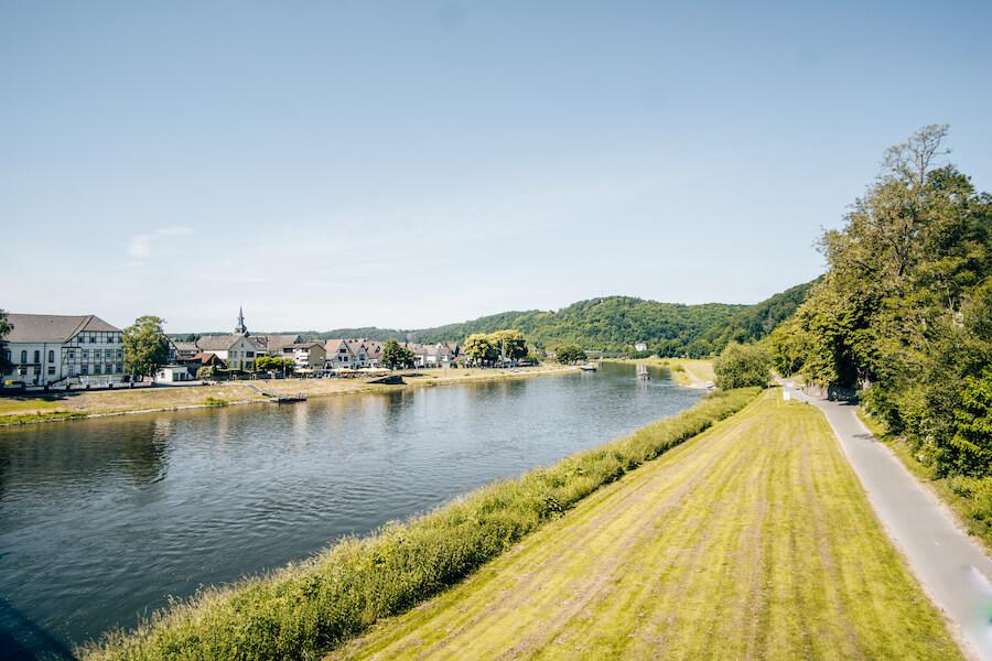 Bodenwerder direkt an der Weser