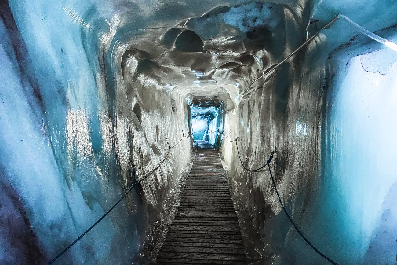 In der Gletscherspalte