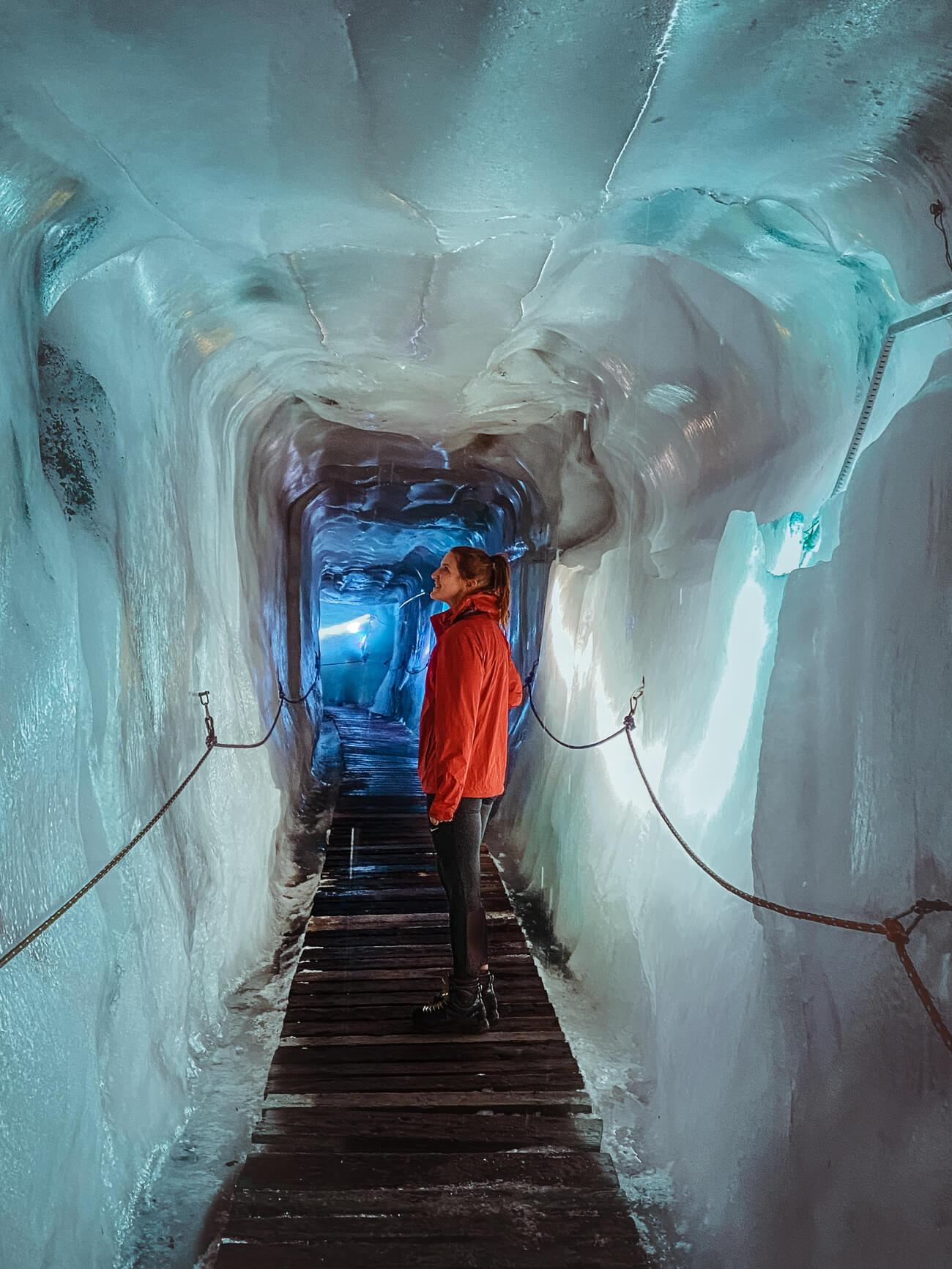 begehbare Gletscherspalte