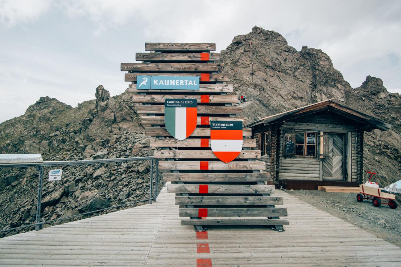 Grenze Kaunertal Italien Österreich
