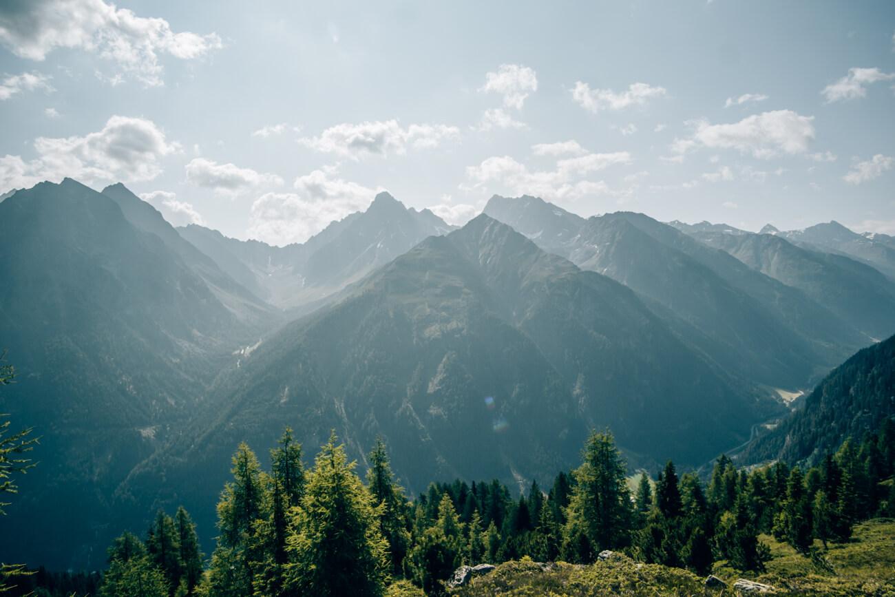 Panoramaausblick während der Wanderung