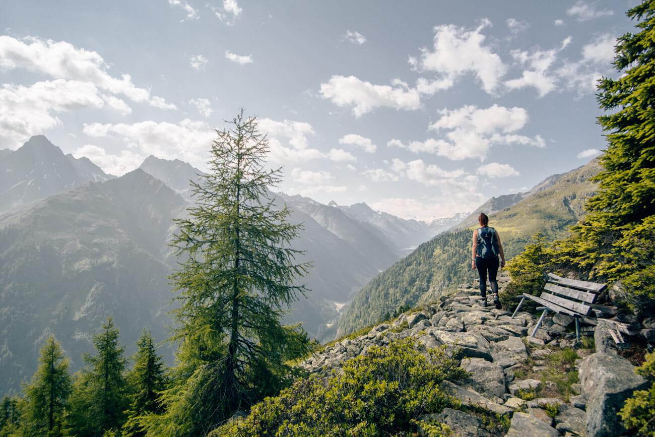 Wanderung auf dem Thomas Penz Höhenweg im Kaunertal