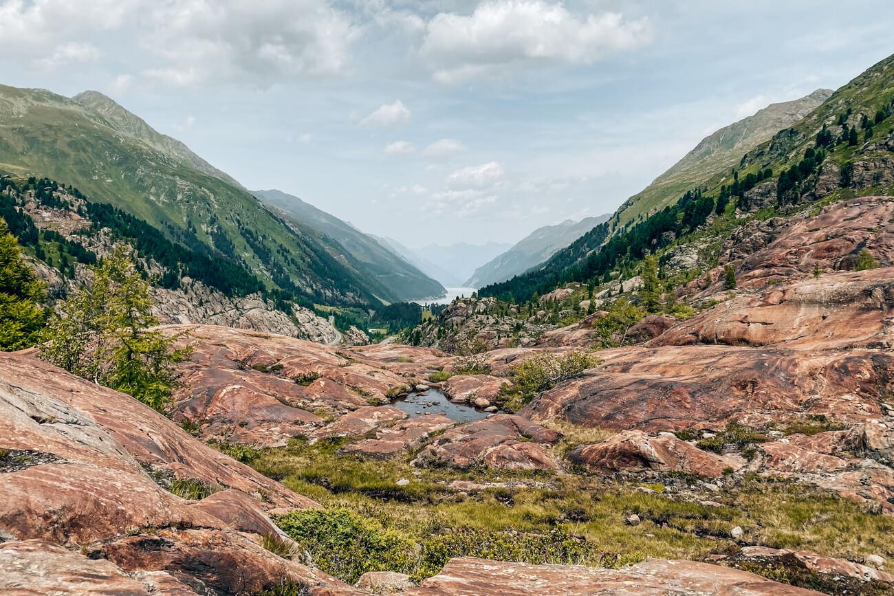 Wanderung Rote Felsen mit Gepatsch-Stausee