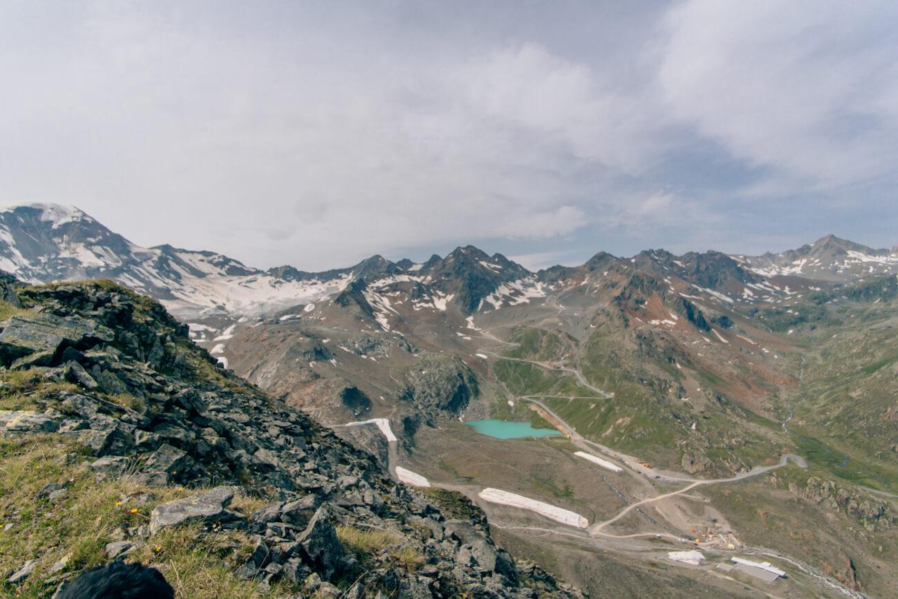 Wanderung Kaunertaler Gletscherstraße - Blick Weißsee