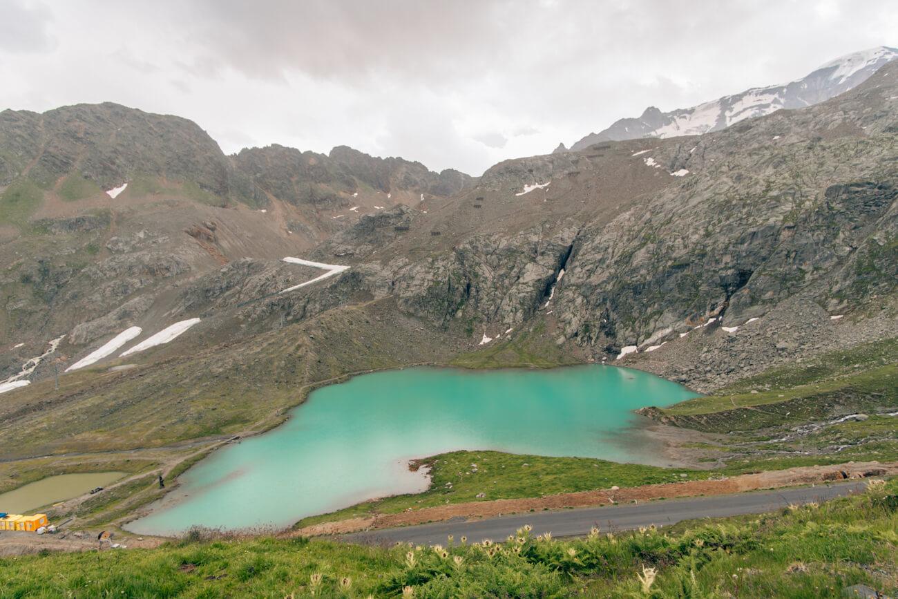 Weißsee an der Kaunertaler Gletscherstraße
